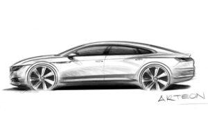 Le prime immagini della Volkswagen Arteon