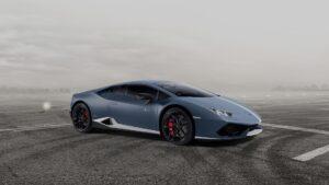 La Lamborghini Huracán a quota 8.000
